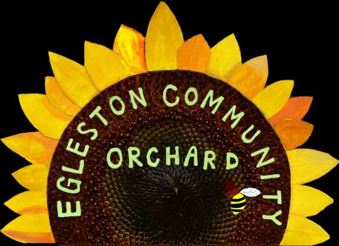 The official logo of the Eglestone Community Orchard, Boston.