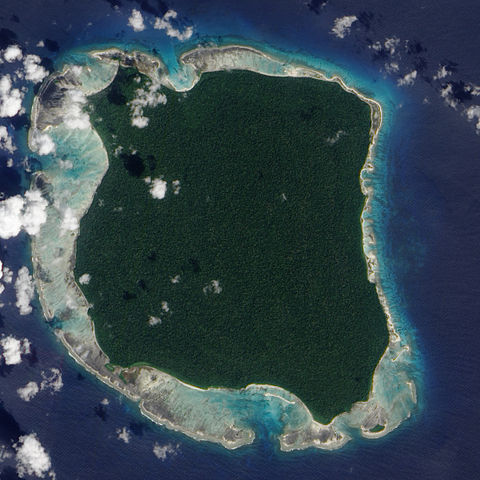 North Sentinel Island. Photo: NASA Earth Observatory by Jesse Allen, using data provided by the NASA EO-1 team / Wikimedia Commons.