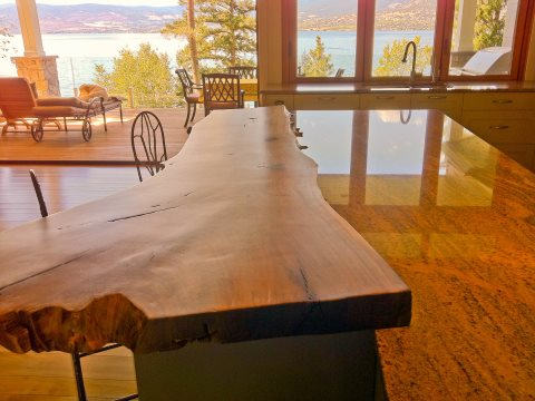 A table with a view - all made from Lake Bayono's lost logs.