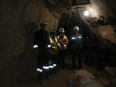 Down the Sotrami gold mine. Photo: John Crabtree.