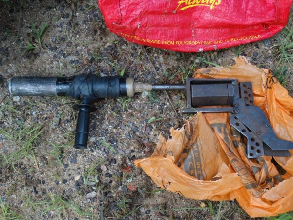 A poacher's confiscated homemade gun. Photo: Thomas Snitch (CC BY-NC-ND).