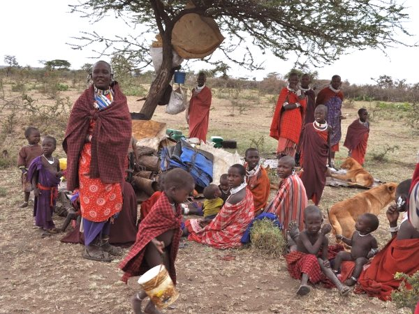 An evicted group of Maasai villagers. Photo: InsightShare.org.