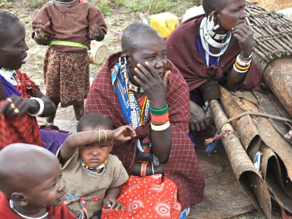 An evicted Maasai family. Photo: InsightShare.org.