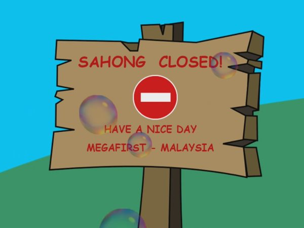'Sahong closed to fish' poster, author-supplied.