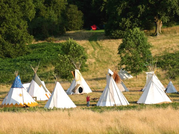Tipi circle at the Green Gathering. Photo: Stefan Handy.