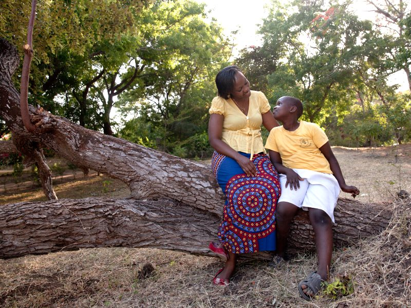 Phyllis Omido with her son, who became sick from lead poisoning as an infant. (Photo: Goldman Environmental Prize)