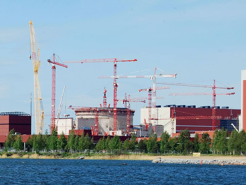 Construction at the OL3 nuclear plant at Olkiluoto in 2009 - still a long way from completion today,a nd in the middle of a $5 billion legal dispute. Photo: kallerna via Wikimedia Commons (CC).