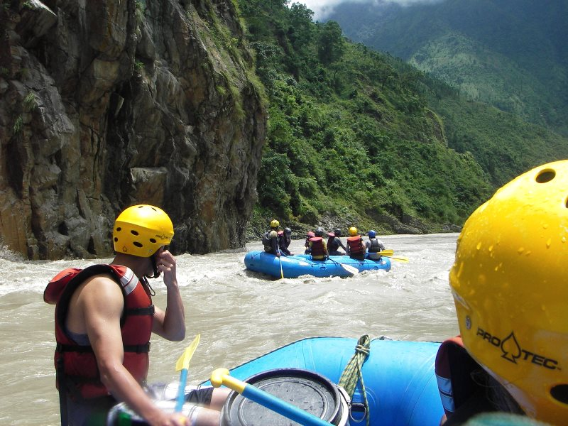 White water rafting on the Trishuli River, Nepal - soon to be obliterated by a succession of large dams. Photo: NepalGateway Trekking via Flickr (CC BY-NC-SA).