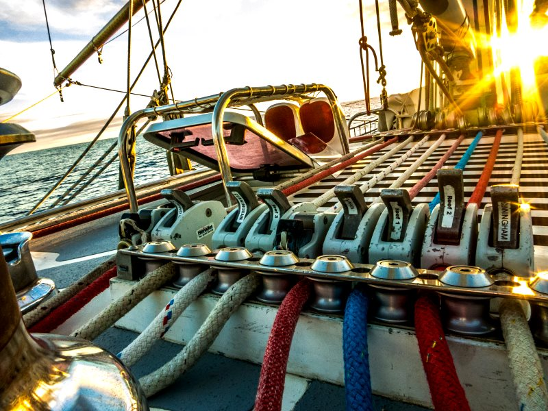 Levers of change on the Sea Dragon. Photo: Kate Rawles.