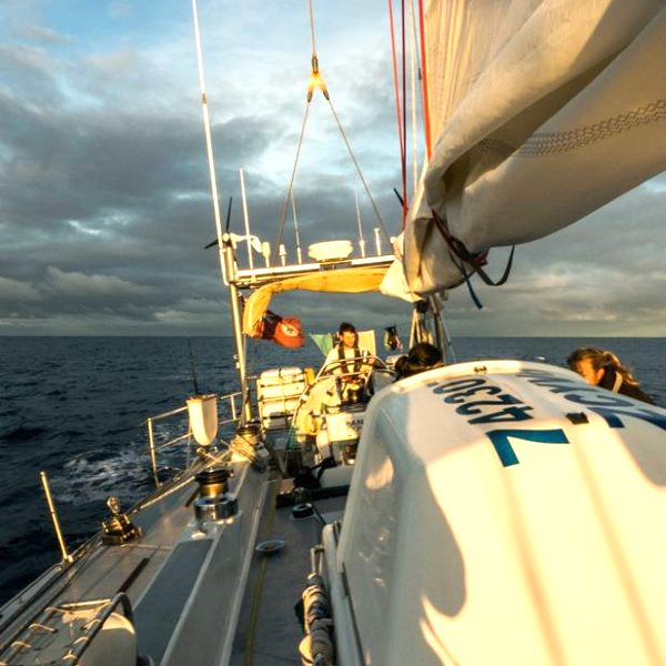 Cruising the Atlantic ocean on the Sea Dragon. Photo: Kate Rawles.