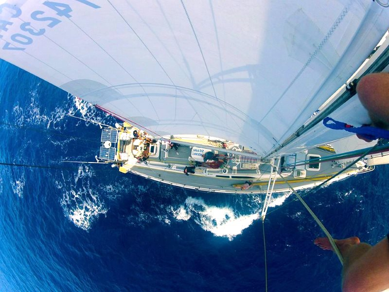 The Sea Dragon, as seen from the mast-top. Photo: Kate Rawles.