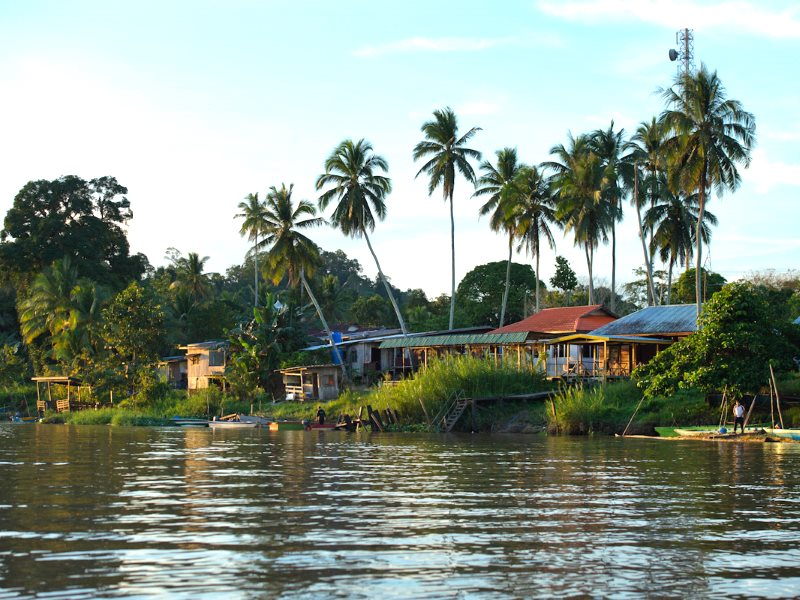 A typical upriver settlement in Sarawak. Photo: The Borneo Project.