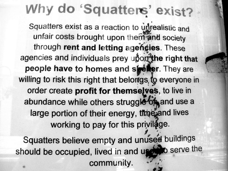 Why do squatters exist? Photo: Feral78 via Flickr (CC BY).