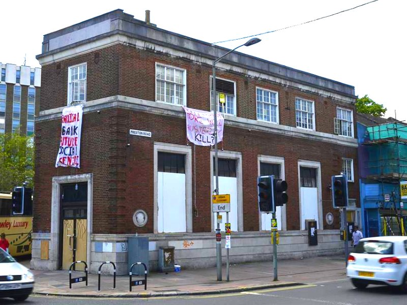 The Radical bank in Brighton before its eviction. Photo: The Radical Bank.
