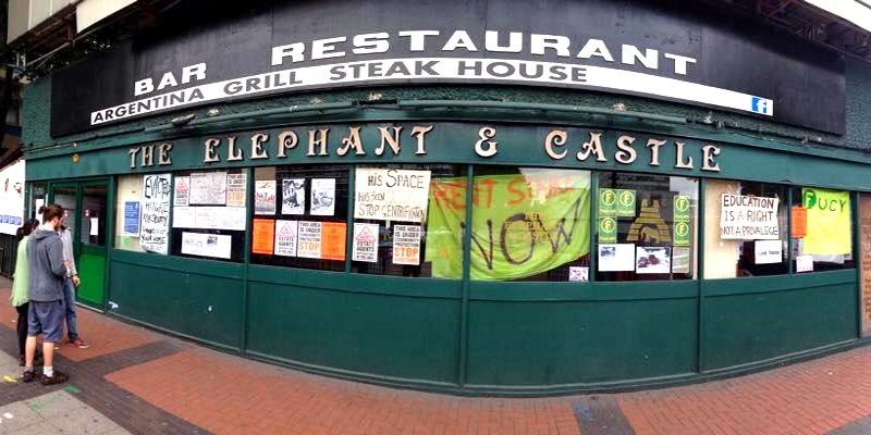 The newly squatted Elephant & Castle Social Centre is already a hive a radical politics. Photo: Elephant & Castle Social Centre via Facebook.