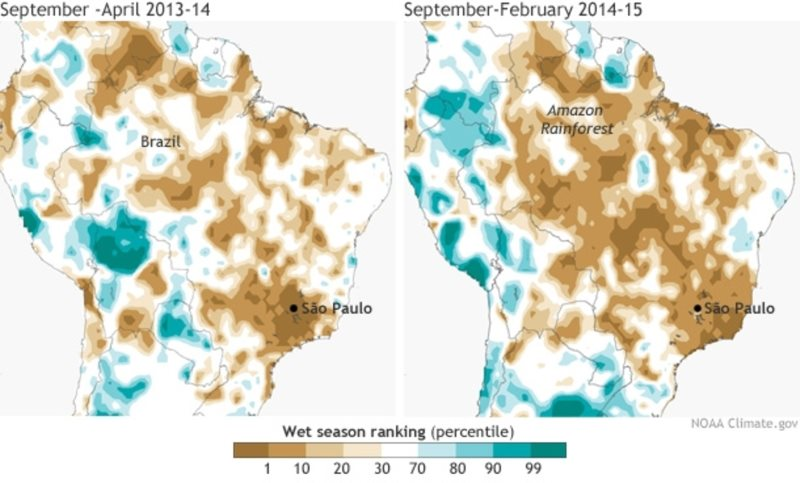 Two very dry wet seasons based on data going back to 1979. Photo: NOAA.