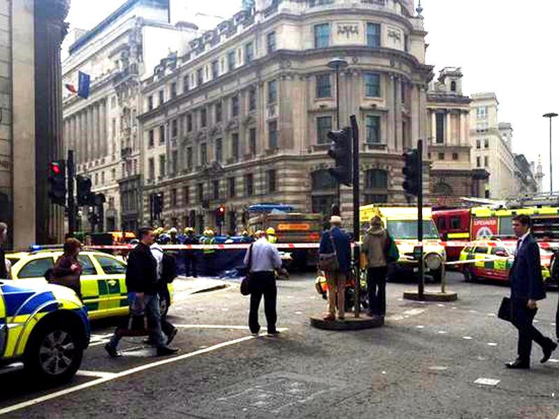 Cyclist Ying Tao, 26, was hit at Bank junction in the City. Photo: Twitter / @MissHerrando.