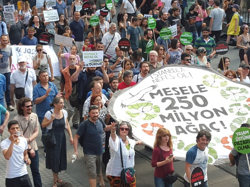 Stop Killer Projects! Be the Breath of Istanbul! campaign meeting, 5th July - what matters is 250 million trees! Photo: North Forest Defence.