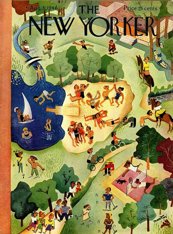 The cover of New Yorker magazine, 31st August 1946, with John Hersey's epic article 'Hiroshima'.