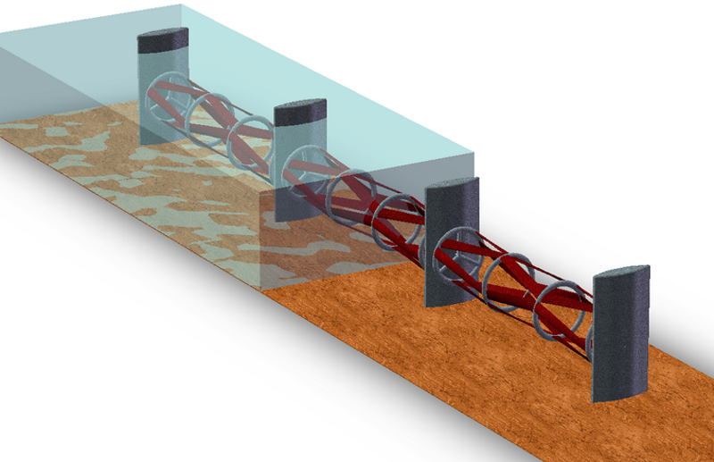 Kepler's 'ocean fence' tidal power unit. Photo: Kepler Energy.