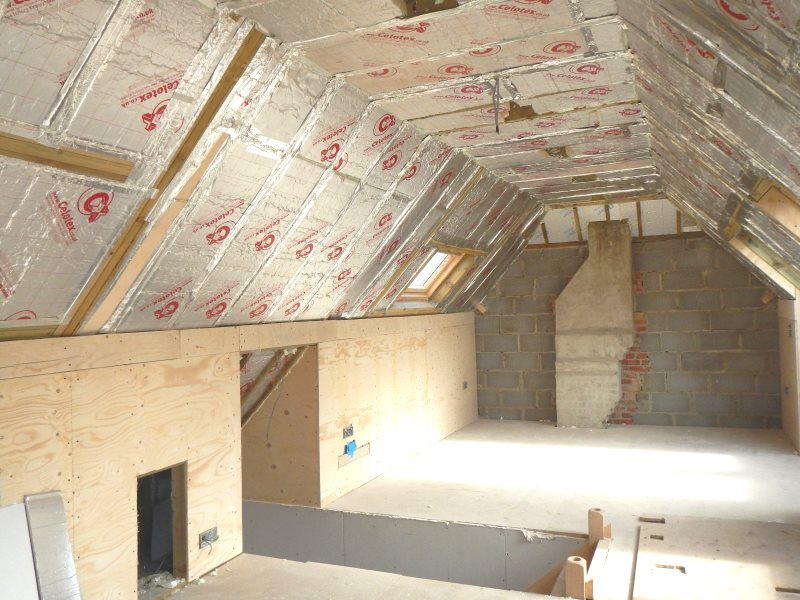 A well insulated loft - what the Green Deal was there for. Photo: Sue Roberts.