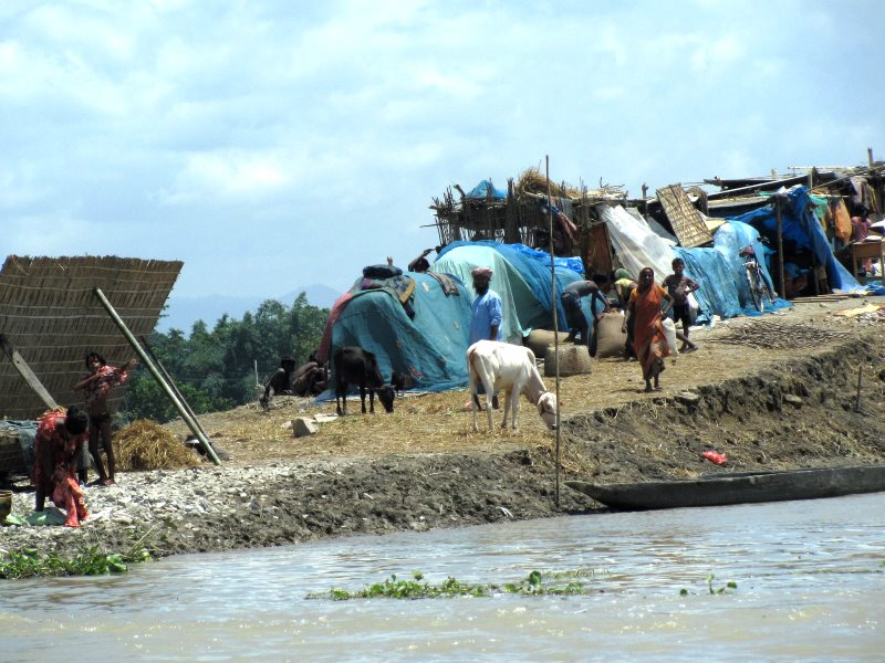 Flooding in Morigaon District, Assam, India, 30th June 2012. Photo: Oxfam International via Flickr (CC BY-NC-ND).