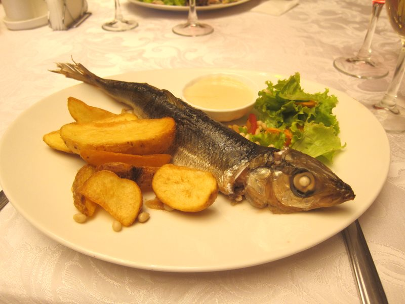 An omul, Lake Baikal's main fish species - delicious however it's cooked. Photo: Bryce Stewart.