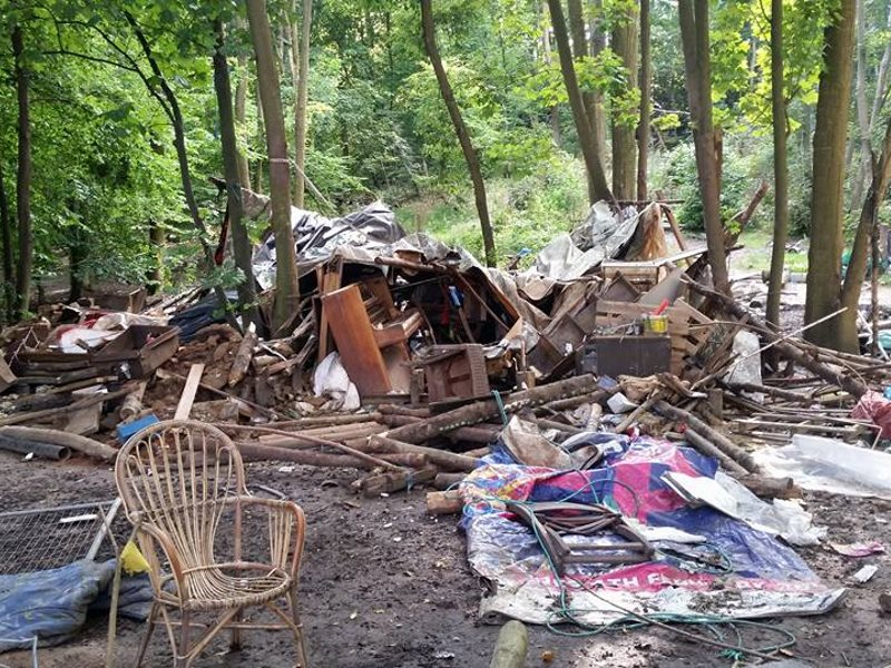 Site of the Runnymede Eco-village, now evicted and destroyed. Photo: Diggers2012 on Facebook.
