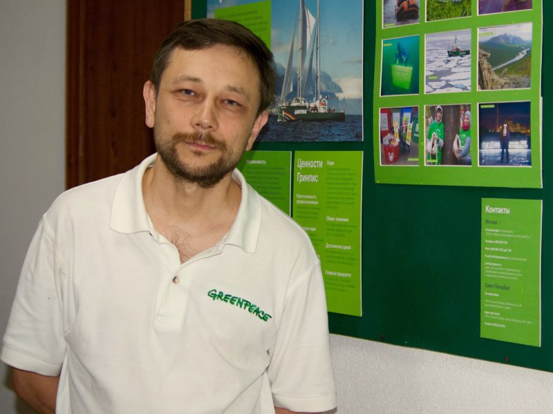 Vladimir Tchouprov, head of energy at Greenpeace Russia. Photo: Lucy E J Woods.