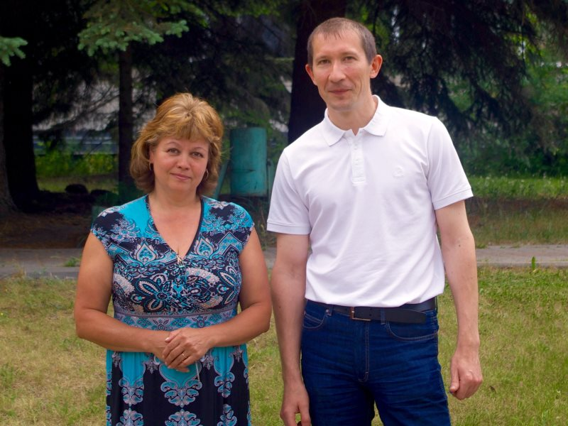 Alexey Mikheev, scientific secretary and doctor of engineering at the Russian Academy of Sciences' Melentiev Energy Systems Institute in Irkutsk, Siberia, with Tatiana Tuguzova, a senior researcher at the Institute. Photo: Lucy E J Woods.