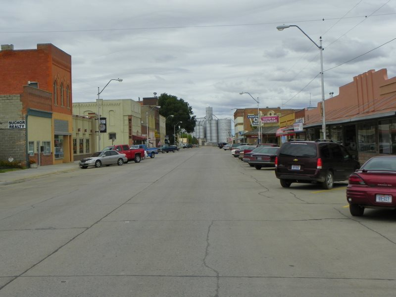 The main business district of Crawford, Nebraska, where the uranium mine employs 65 people including 20 contractors. Photo: J. Stephen Conn via Flickr (CC BY-CN).