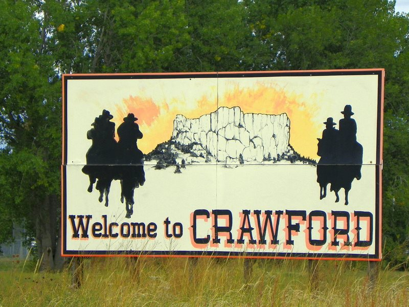 Welcome to Crawford, Nebraska. Photo: J. Stephen Conn via Flickr (CC BY-CN).
