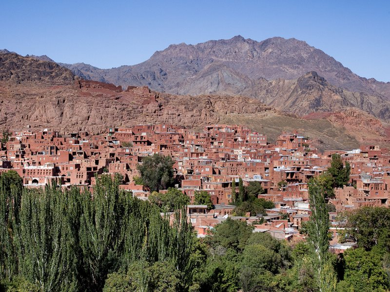 The 'red village' of Abyaneh, rougly between Kashan and Esfahan in central Iran. The houses are built from adobe and contain red clay from the local soil. Photo: Erwin Bolwidt via Flickr (CC BY-NC-SA)