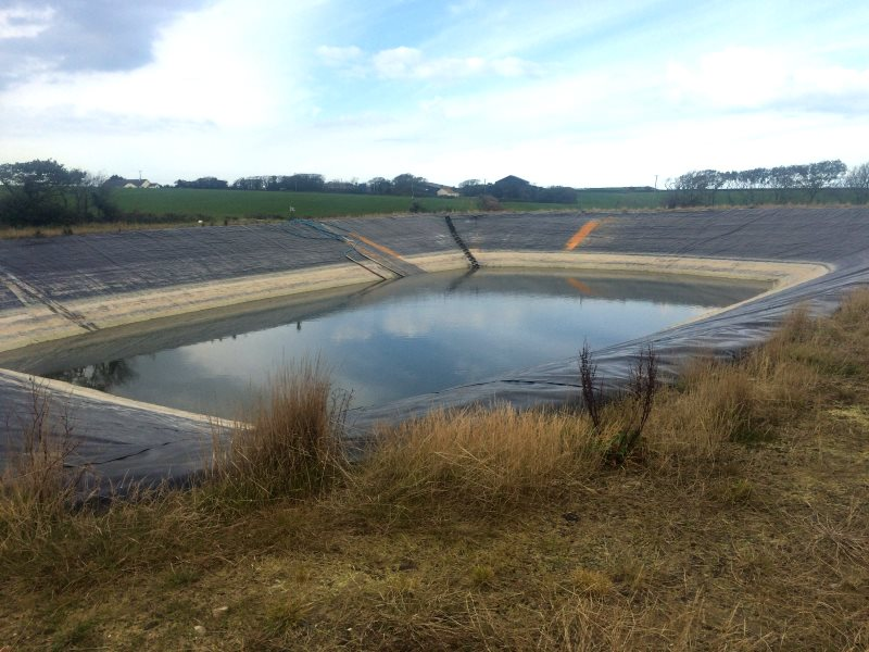 Slurry pit at a UK mega-dairy. Photo: Andrew Wasley / Ecostorm.