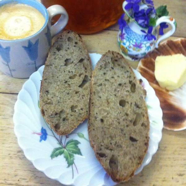 Seaweed sourdough: an exquisite harmonization of flavours. Photo, Fiona Bird.