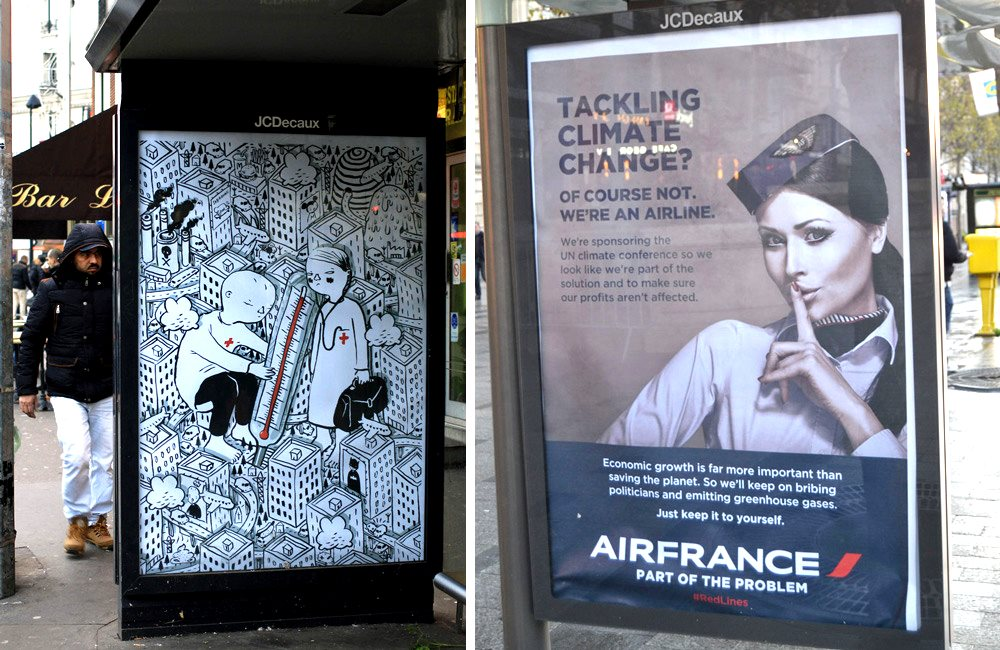 'Air France - part of the problem'. Photo: unknown.