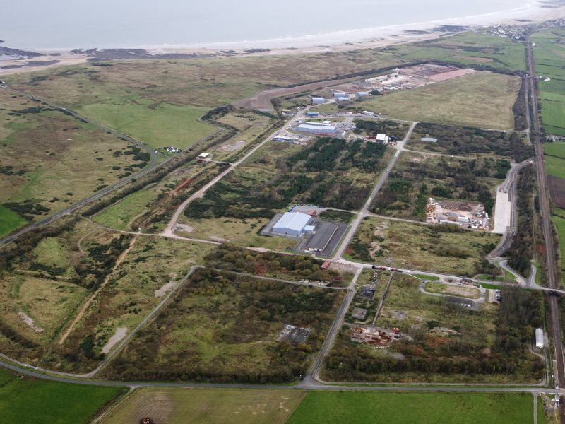 Drigg site as viewed from the air. Photo: via LLW Repository Ltd.