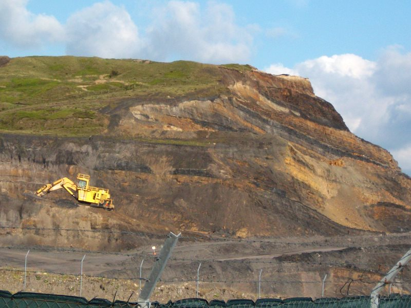 Ffos-y-Fran coal mine in South Wales. Photo: Coal Action Network.