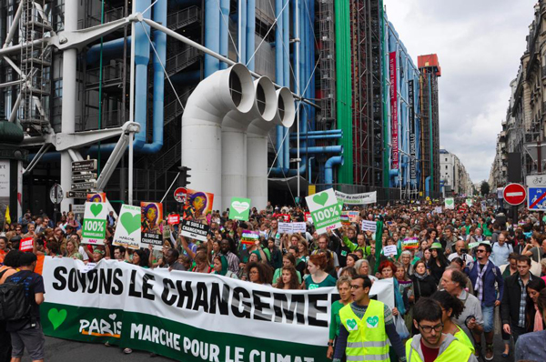 The Climate March in Paris preceeded the Summit where global leaders met to discuss the future of climate. But are the agreements signed enough? Photo: Oxfam International via Flickr (CC BY-NC-ND 2.0)