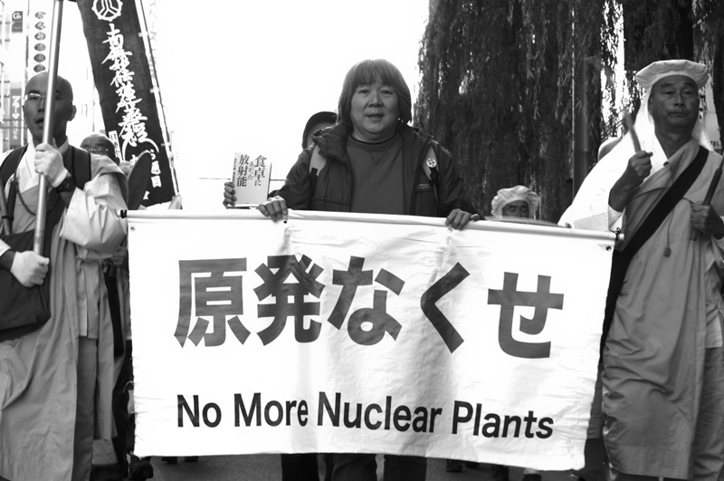 Monks at an anti-nuclear rally in Hibiya, Tokyo. More than 80% of Japanese now said they were anti-nuclear and distrusted government information on radiation. Photo: Takeshi GS via Flickr (CC BY-NC-ND 2.0)