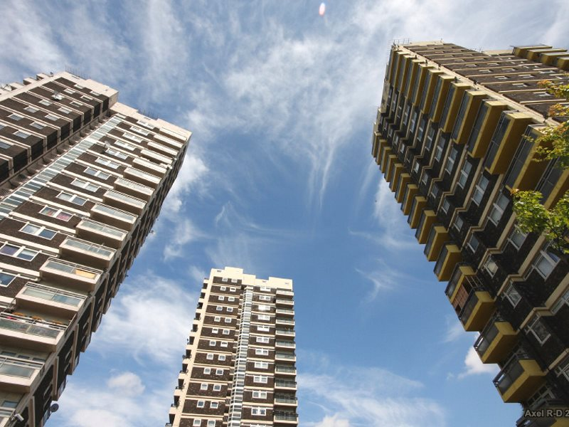 High rise blocks in Peckham, South London. Photo: Axel Drainville via Flickr (CC BY-NC).