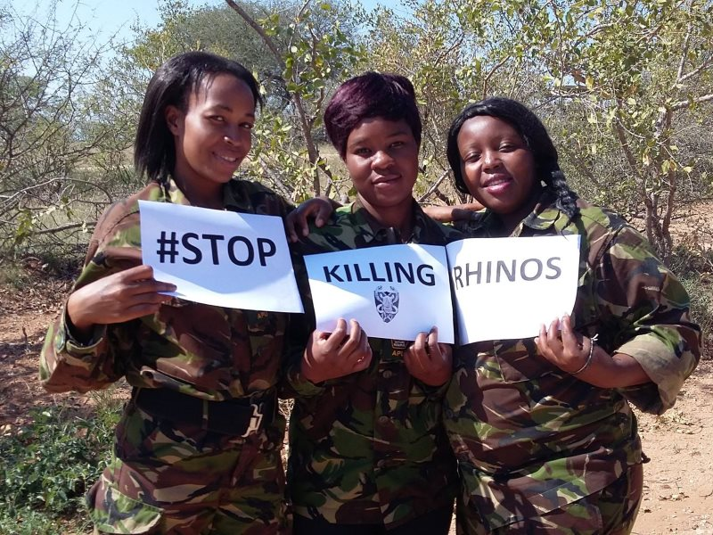 #StopKillingRhinos plea from The Black Mambas. Photo: Black Mamba APU.