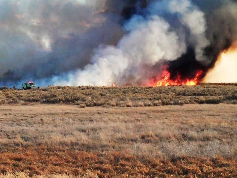 Controlled burn at the Malheur Wildlife Refuge. Photo: USFWS - Pacific Region via Flickr (CC BY).