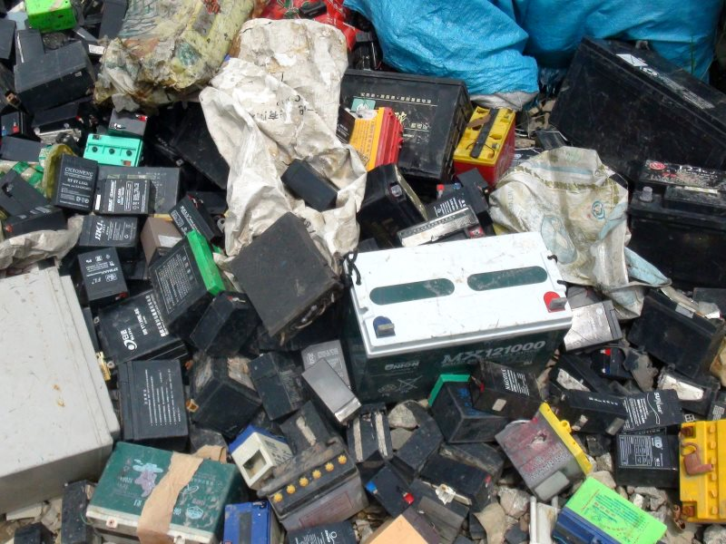 It's a problem everywhere: dumped lead-acid batteries in Guiyu, China. These could end up in Africa's unregulated lead smelters as China clamps down on its most polluting industries. Photo: baselactionnetwork via Flickr (CC BY-ND).