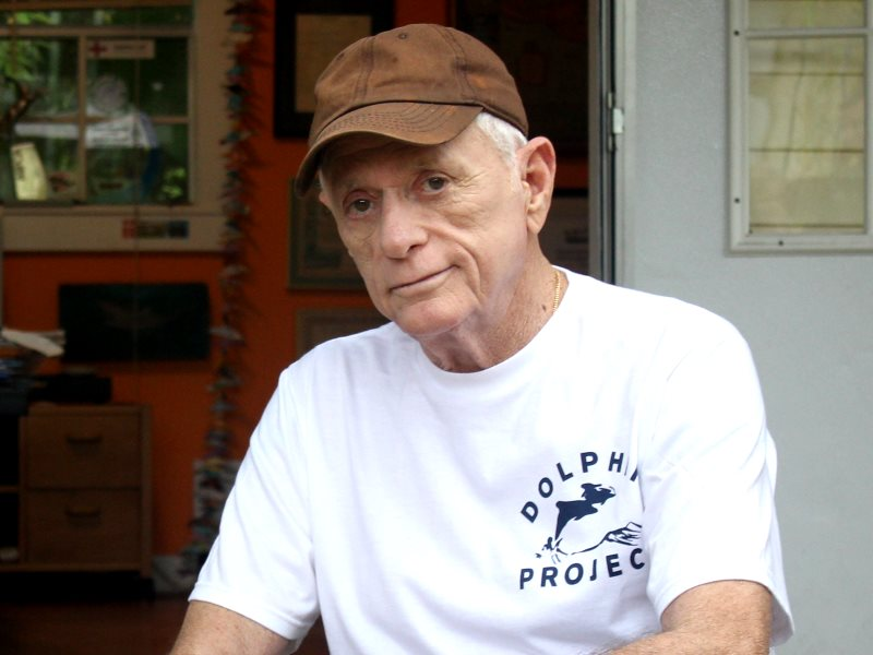 Ric O'Barry, 76, Founder / Director of Dolphin Project. Photo: Dolphin Project.