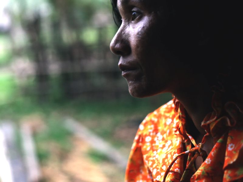 Mao Chanthoern, a core member of the Prey Lang Network core group, at home. Photo: Vanessa de Smet Last Line Productions / N1M.