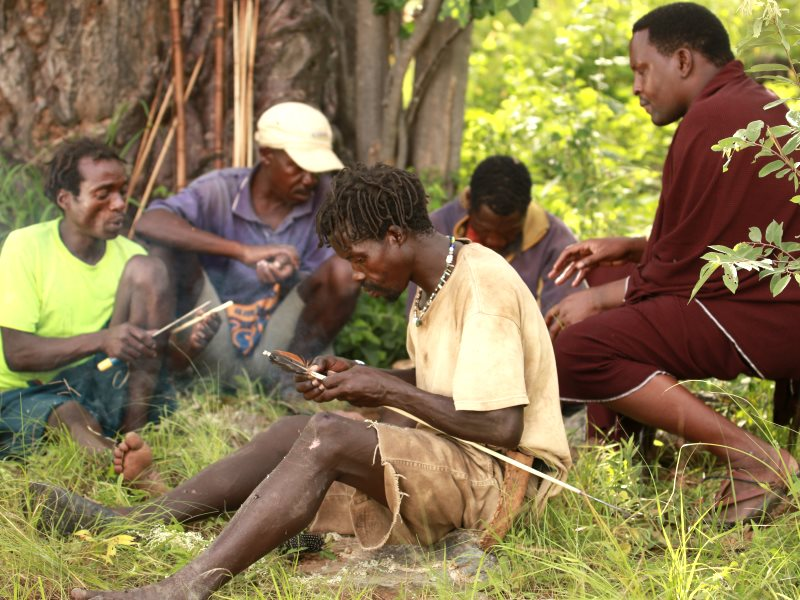 With their land rights secured, a band of Hadzabe people are ensuring the survival of their hunter-gatherer lifestyle while generating modest revenue from carbon credits and carefully managed cultural tourism. Photo: Goldman Environmental Prize.