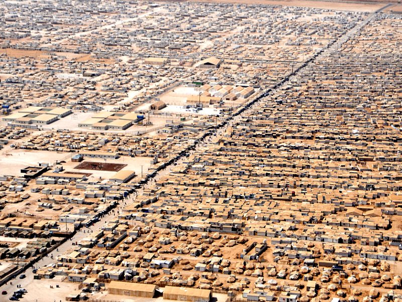 The Za'atri camp in Jordan for Syrian refugees as seen on July 18, 2013. Photo: US State Department / via Wikimedia Commons (Public Domain).