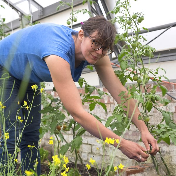 Alice Holden, head grower at Growing Communities Starter Farm, Dagenham. Photo: Walter Lewis.