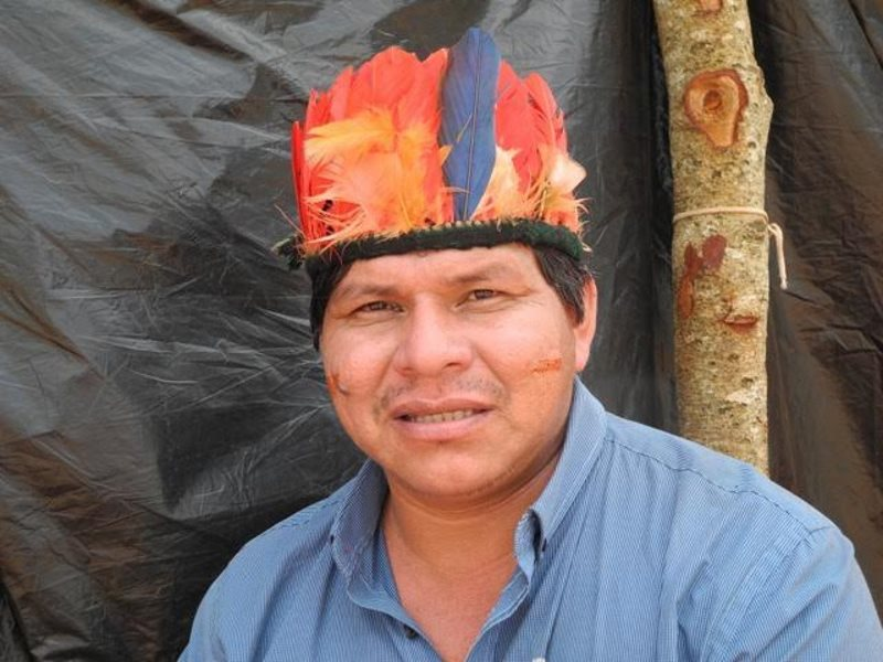 Tonico, the Guarani leader recently invited to the UK by Survival International. Photo: Survival International.